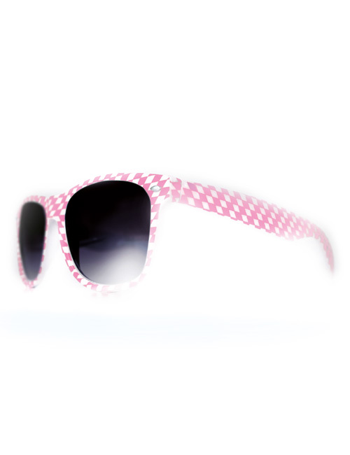 Costumeglasses pink-white